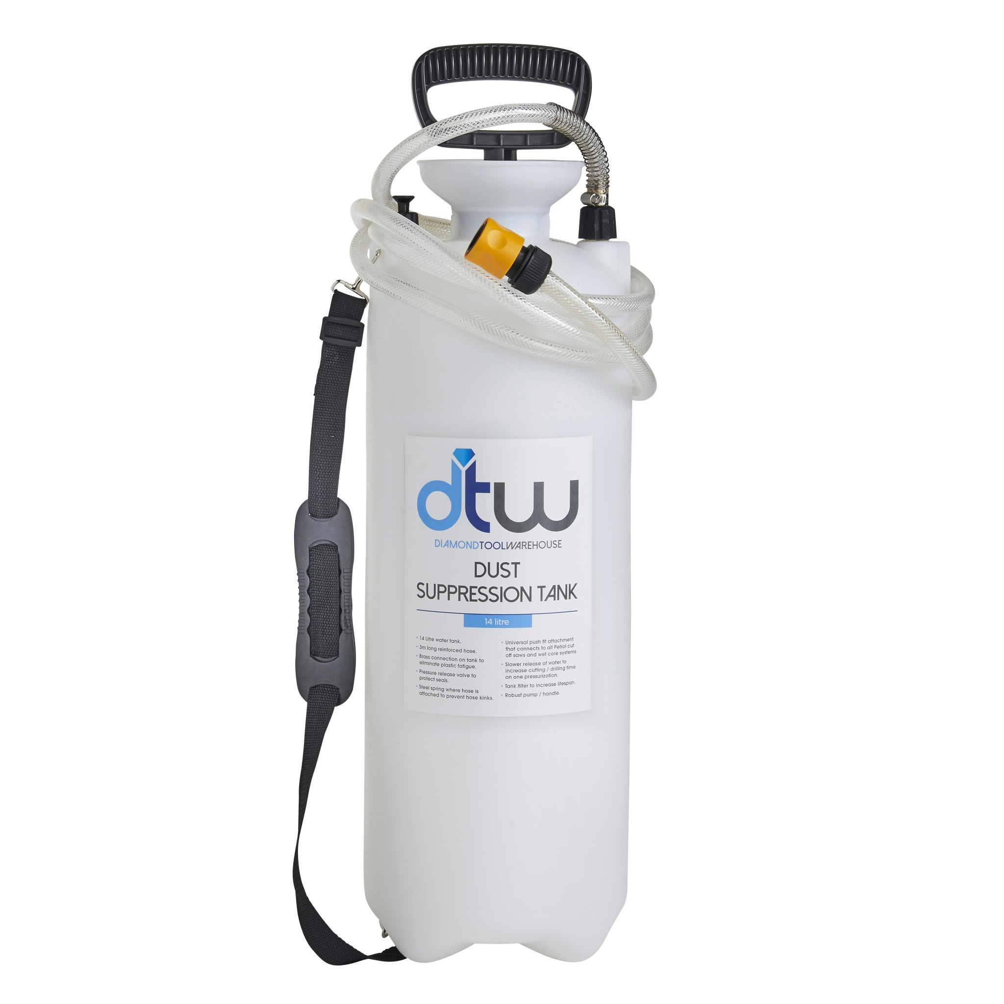 DTW 14 Litre Dust Suppression Water Bottle & Spare Parts