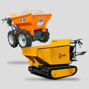 Mini dumpers and power barrows