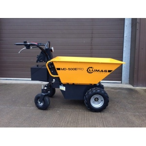 Lumag MD500E Power Barrow with Pneumatic Tip - Electric 500kg